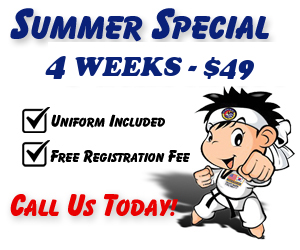martial arts classes for kids special in Tustin